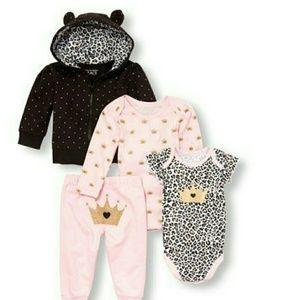 4pc Baby Bundle. Princess Leopard Children's Place